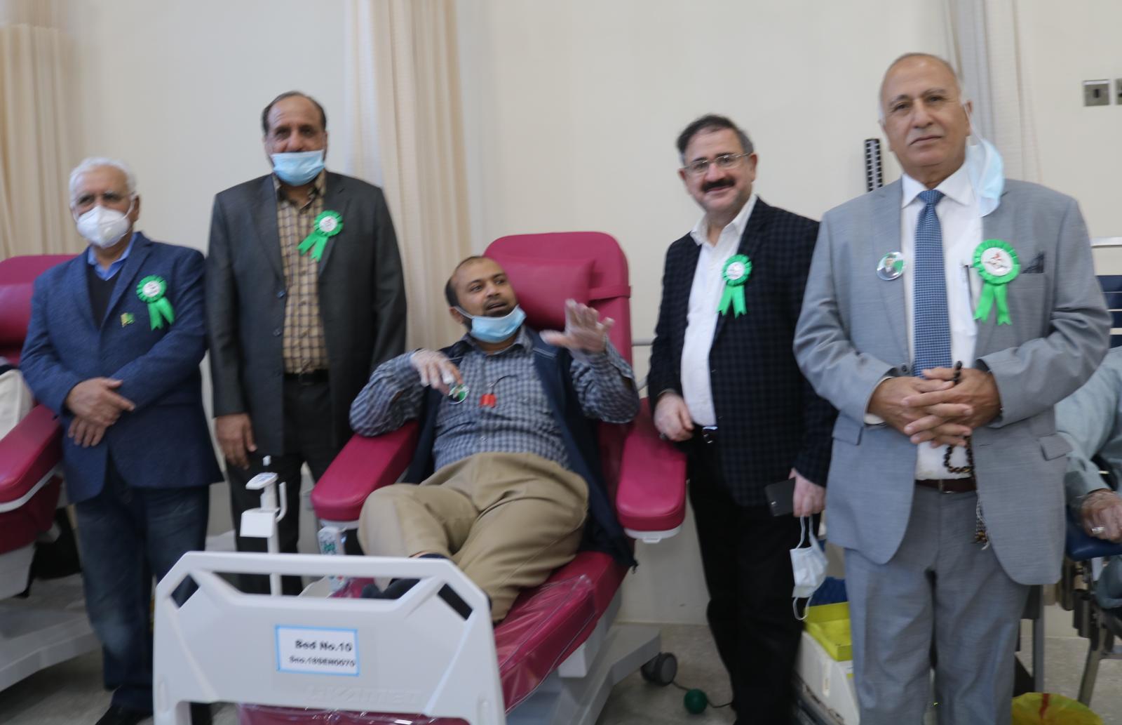 Blood donation camp organized by Pak Donors on Quaid-e-Azam's birthday