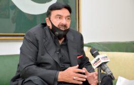 Pakistan's Minister of Interior Sheikh Rashid Ahmed